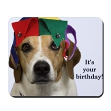 Beagle Birthday Card Mousepad