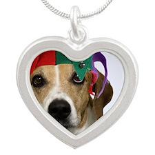 Beagle Birthday Card Silver Heart Necklace