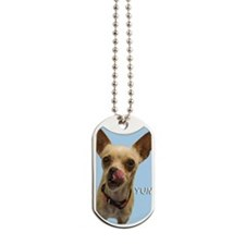 Chihuahua Yum Birthday Card Dog Tags