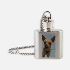 Chihuahua Yum Birthday Card Flask Necklace