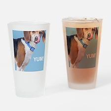 Beagle Yum Birthday Drinking Glass