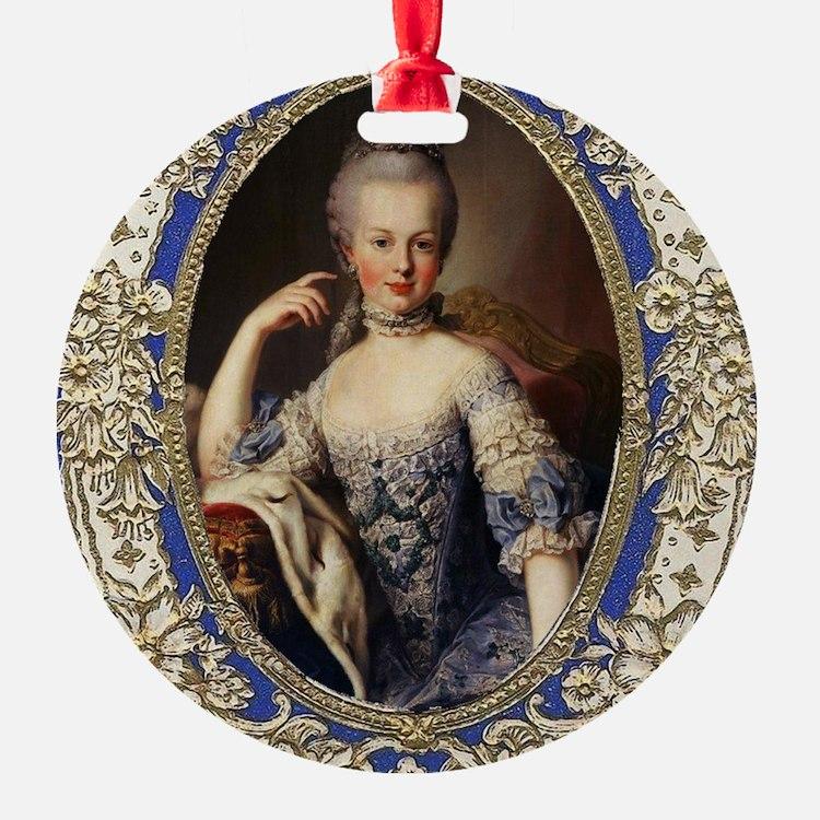 Marie Antoinette in vintage frame Ornament