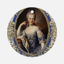 Marie Antoinette in vintage frame Round Ornament