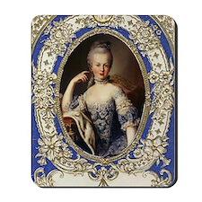 Marie Antoinette in vintage frame Mousepad