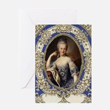 Marie Antoinette in vintage frame Greeting Card