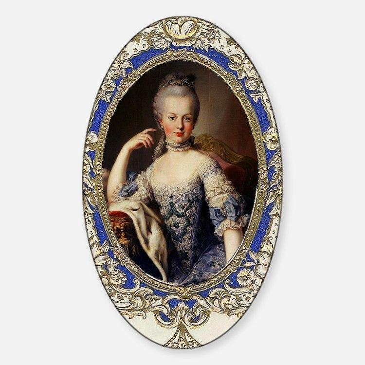 Marie Antoinette in vintage frame Decal