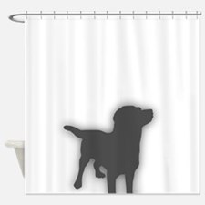 Dog In The Shower Shower Curtain