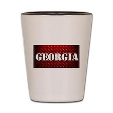 Georgia Diamond Plate Design Shot Glass