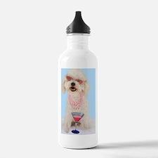 Bichon Frise Birthday Water Bottle
