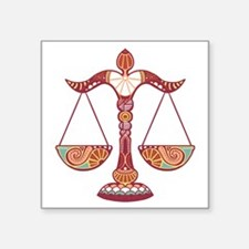 "Libra Square Sticker 3"" x 3"""