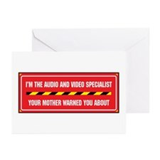 I'm the A/V Specialist Greeting Cards (Package of