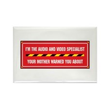 I'm the A/V Specialist Rectangle Magnet (100 pack)