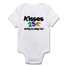 Kisses / College Fund! Funny Baby Bodysuit