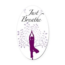 Just Breathe Wall Decal Oval Car Magnet