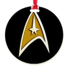 Trekky emblem color Ornament