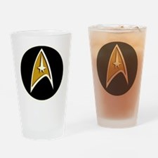 Trekky emblem color Drinking Glass