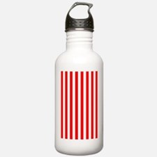 Red and White Striped Water Bottle