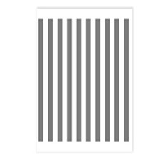Grey and White Striped Postcards (Package of 8)