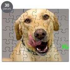 Yellow Lab Yum Birthday Card Puzzle