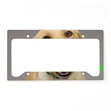 Yellow Lab Yum Birthday Card License Plate Holder