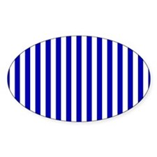 Blue and White Stripe Decal
