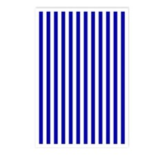 Blue and White Stripe Postcards (Package of 8)