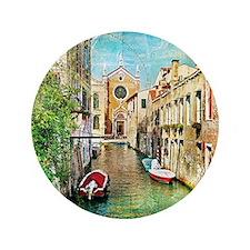 """Vintage Venice Photo 3.5"""" Button"""