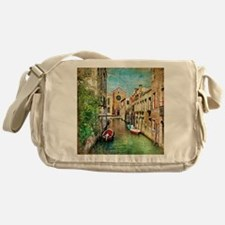 Vintage Venice Photo Messenger Bag