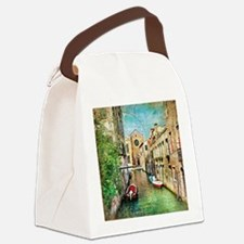 Vintage Venice Photo Canvas Lunch Bag