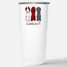 Walkies? (Three dogs) Travel Mug
