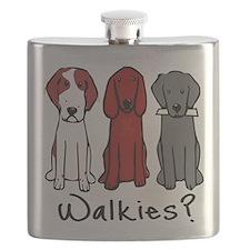Walkies? (Three dogs) Flask