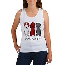Walkies? (Three dogs) Tank Top