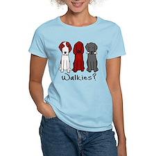 Walkies? (Three dogs) T-Shirt