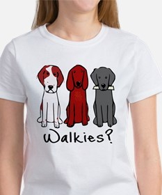 Walkies? (Three dogs) T-Shirt