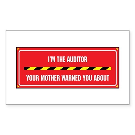I'm the Auditor Rectangle Sticker