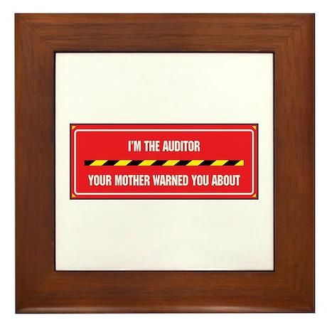 I'm the Auditor Framed Tile