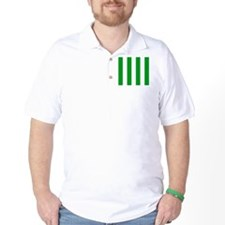 Green and White Stripes T-Shirt