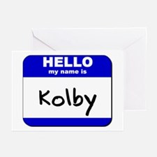 hello my name is kolby  Greeting Cards (Package of