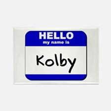 hello my name is kolby Rectangle Magnet