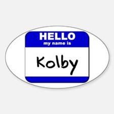 hello my name is kolby Oval Stickers