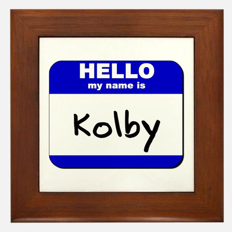 hello my name is kolby  Framed Tile