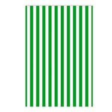 Green and White Stripe Postcards (Package of 8)