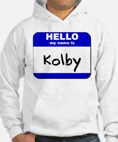 hello my name is kolby Hoodie