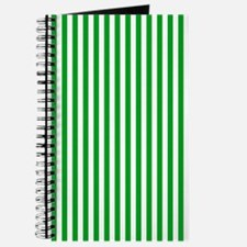 Green and White Stripes Journal