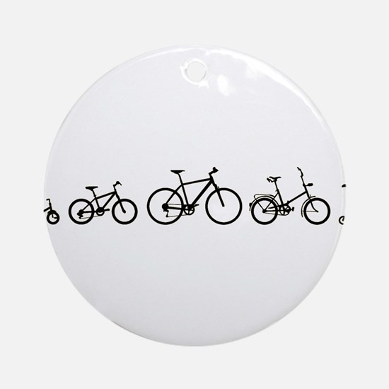 Bicycle Evolution Shirt Round Ornament