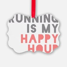 Running Is My Happy Hour Ornament
