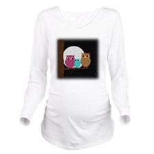 Family of Owls Long Sleeve Maternity T-Shirt
