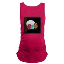 Family of Owls Maternity Tank Top