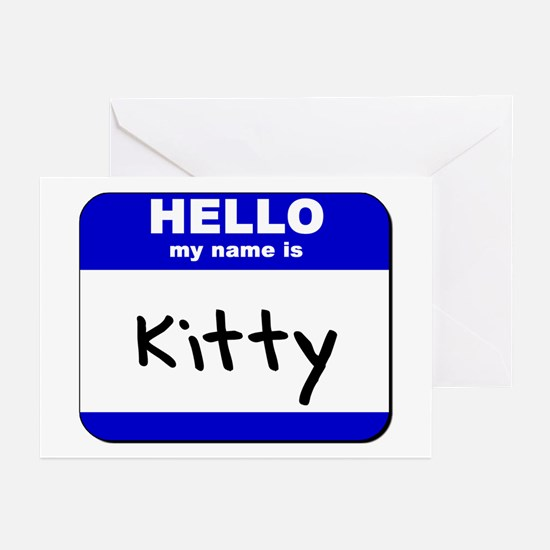 hello my name is kitty  Greeting Cards (Package of