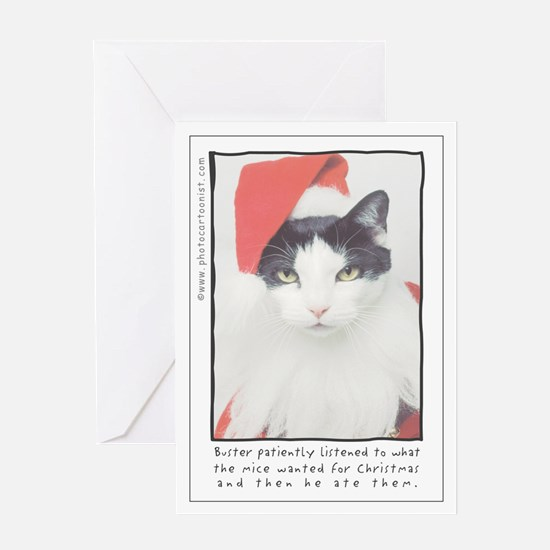 Buster patiently listened Greeting Cards